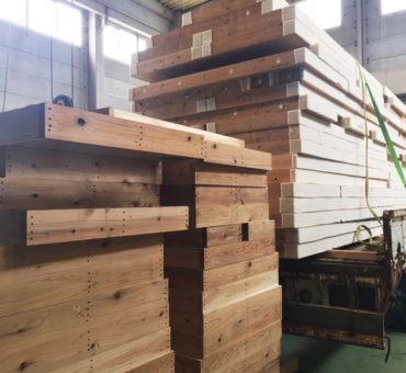 棟上げ 上棟 FPパネル 川上建設 工務店 木材 建方 新築 マイホーム
